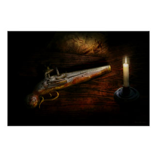 Arma - pistola - romance de pirateering impresiones