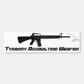 Arma que asalta de la tiranía AR-15 Pegatina De Parachoque