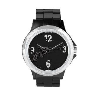 Arma reloj occidentales de la mano del vintage