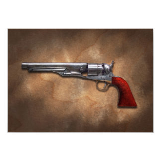"""Arma - revólver 1860 del ejército del modelo invitación 5"""" x 7"""""""