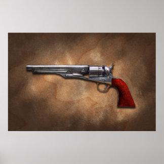 Arma - revólver 1860 del ejército del modelo poster