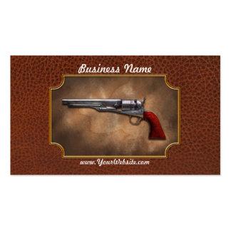 Arma - revólver 1860 del ejército del modelo plantilla de tarjeta personal