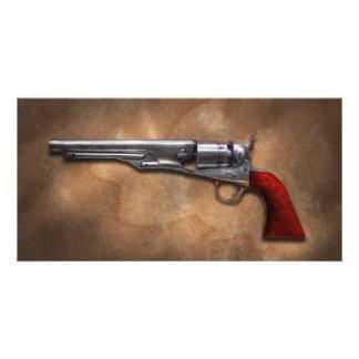 Arma - revólver 1860 del ejército del modelo tarjeta personal