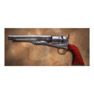 Arma - revólver 1860 del ejército del modelo tarjeta publicitaria personalizada