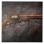 Arma - revólver del calibre del modelo 1851 - 36 azulejos cerámicos