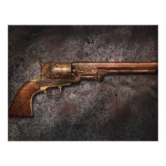 Arma - revólver del calibre del modelo 1851 - 36 tarjetas informativas