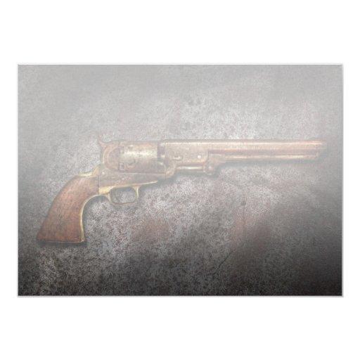 """Arma - revólver del calibre del modelo 1851 - 36 invitación 5"""" x 7"""""""