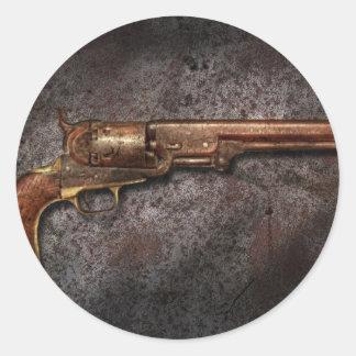 Arma - revólver del calibre del modelo 1851 - 36 pegatina redonda