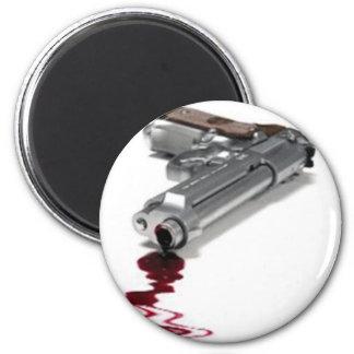Arma sangriento imán de frigorífico