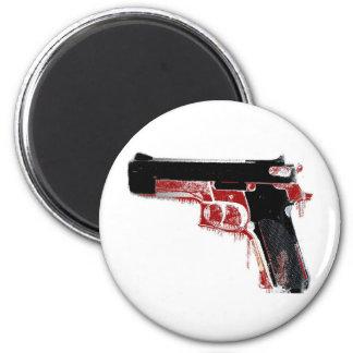 Arma sangriento imán para frigorifico