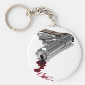 Arma sangriento llaveros personalizados