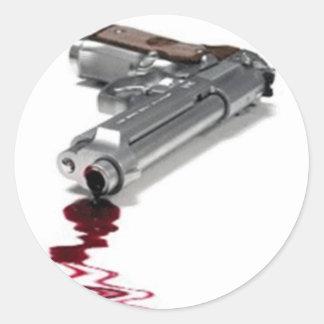 Arma sangriento etiquetas