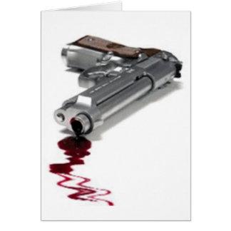 Arma sangriento tarjeta