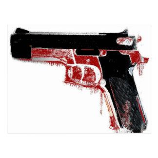 Arma sangriento postal