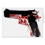 Arma sangriento tarjetas