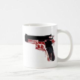 Arma sangriento taza de café