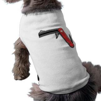 Arma suizo del ejército playera sin mangas para perro