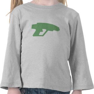 Arma verde del laser camisetas