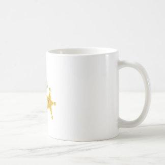 Arma y insignia taza básica blanca