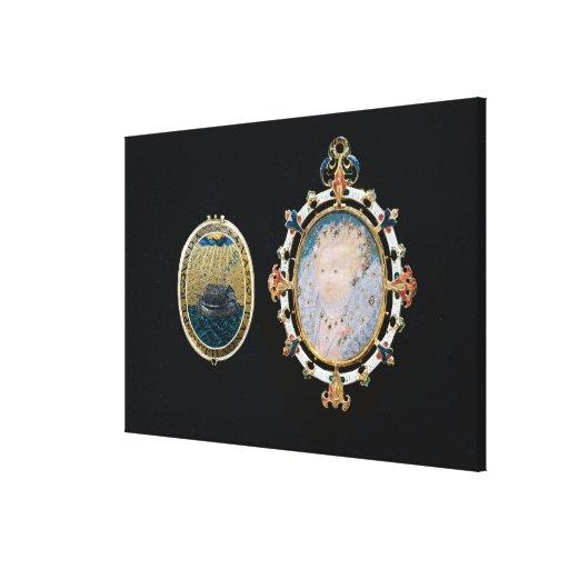 Armada Jewel, miniature of Queen Elizabeth I enclo Stretched Canvas Prints