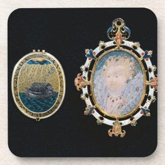 Armada Jewel, miniature of Queen Elizabeth I enclo Coaster