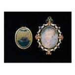 Armada Jewel, miniature of Queen Elizabeth I enclo Post Cards