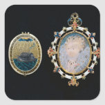 Armada Jewel, miniature of Queen Elizabeth I enclo Square Sticker