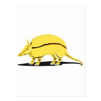 Armadillo amarillo/de oro con la raya negra en tarjetas postales