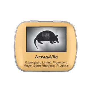 Armadillo Animal Spirit Meaning Collectible Jelly Belly Tin