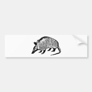 Armadillo Car Bumper Sticker
