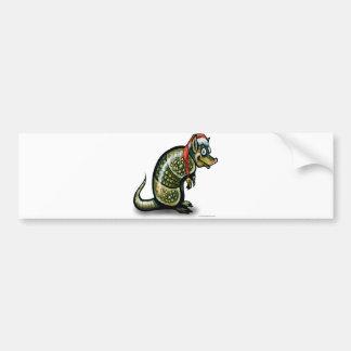 Armadillo Christmas Bumper Sticker