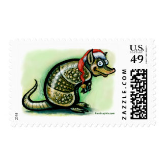 Armadillo Christmas Stamp