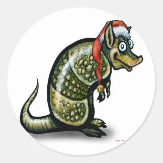 Armadillo Christmas Stickers