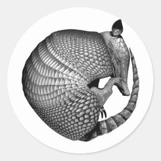 Armadillo Classic Round Sticker