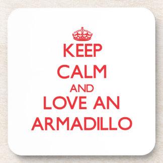 Armadillo Beverage Coasters