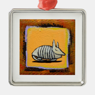 Armadillo cute fun modern art colorful painting christmas ornaments