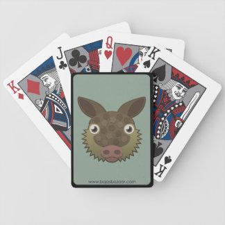 Armadillo de papel baraja cartas de poker