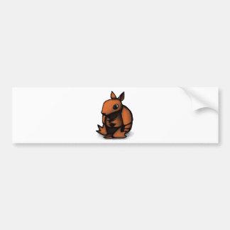 Armadillo Design Bumper Sticker