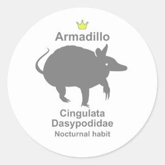 Armadillo g5 classic round sticker