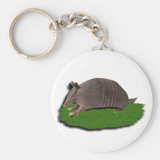 Armadillo grass keychain