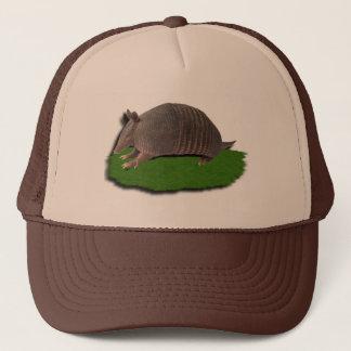 Armadillo grass trucker hat
