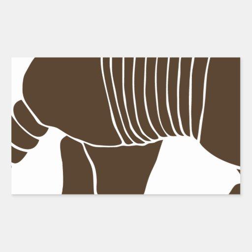 armadillo gürteltier sloth faultier animal pútrido pegatina rectangular