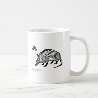 Armadillo Kiss Me Coffee Mug