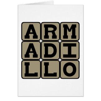 Armadillo, mamífero placentario tarjeta de felicitación
