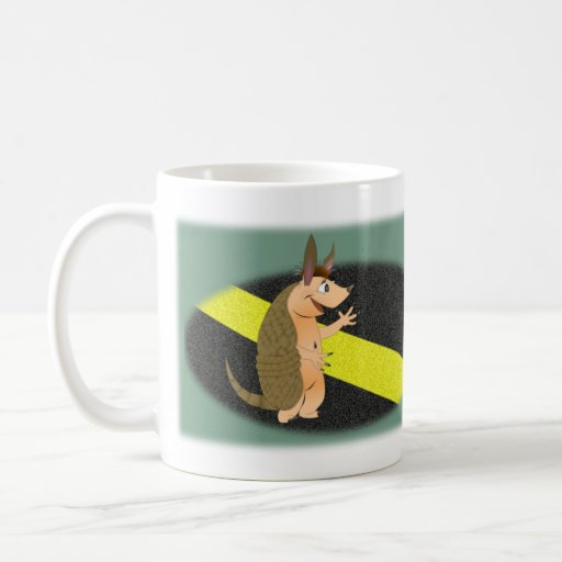 Armadillo on the edge Large Mug