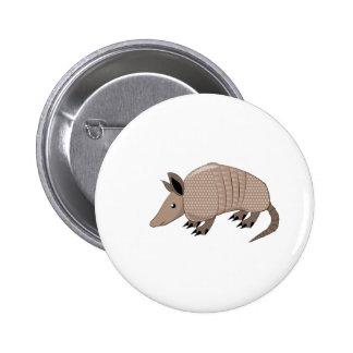 Armadillo Pinback Button