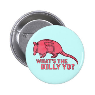 Armadillo Pinback Button