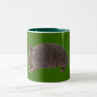 Armadillo plain Two-Tone coffee mug