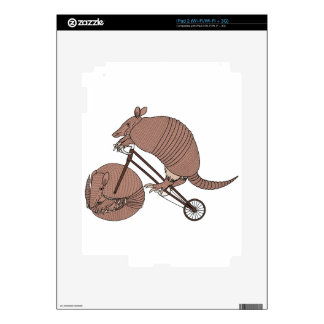 Armadillo Riding Bike With Armadillo Wheel Decals For iPad 2