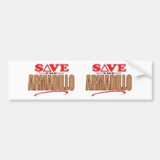 Armadillo Save Bumper Sticker
